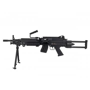 FN M249 Black AEG 6 mm 300 Bbs 1J Full Nylon fiber
