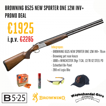 Browning B525 New Sporter One 12M INV+ PAKKET DEAL